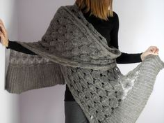 knitted wrap shawl
