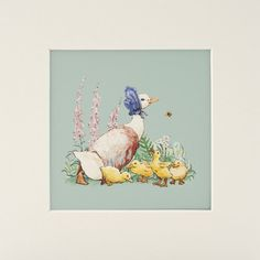 Beatrix Potter's Jemima Puddleduck and the Ducklings (Mounted Print)