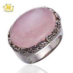 Rose Quartz 925 Sterling Silver Ring
