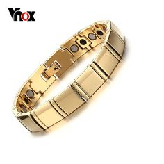 Vnox Real Tungsten Men's Bracelet Healthy Magnetic Therapy Jewelry Top Quality