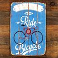 Bicycle vintage metal planque painting retro metal tin sign art posters wall stickers home wall decor. Product ID: Vintage Metal Signs, Vintage Wall Art, Vintage Walls, Vintage Home Offices, Vintage Home Decor, Rustic Decor, Velo Vintage, Vintage Bicycles, Wall Art Crafts