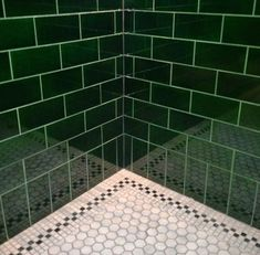 63+ Trendy Bathroom Green Dark Subway Tiles #bathroom