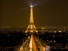 Pictures+From+Paris+France | ... -jim-nighttime-view-of-eiffel-tower-and-champs-elysees-paris-france