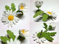 Best ever crochet flowers... With clear diagrams !