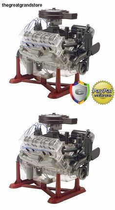 Revell Visible V 8 Engine 1 4 Scale With Moving Pistons And Crank