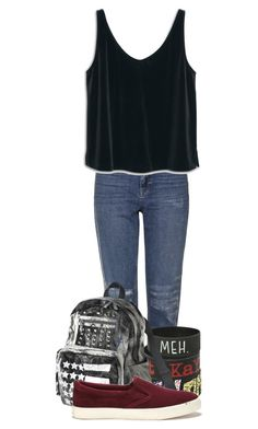 """Untitled #347"" by londoner6401 ❤ liked on Polyvore featuring Topshop, MANGO, Mossimo Supply Co. and Lauren Ralph Lauren"