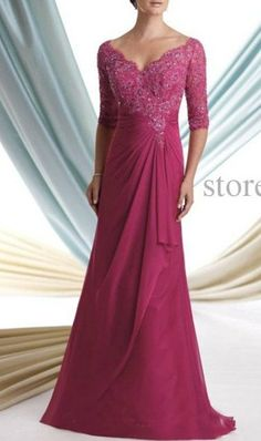 Mother of the bride dresses noble magenta lace by MALLECNDRESS, $139.00