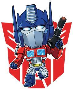 Check out this awesome - Transformed Deformed - design on Transformers Birthday Parties, Transformer Birthday, Morning Cartoon, Transformers Optimus Prime, Chibi Characters, Thundercats, Mega Man, Gi Joe, Cartoon Art