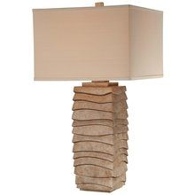 View the Ambience 13028-0 1 Light Cream Linen Table Lamp at LightingDirect.com.