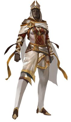 White Mantle Female Cleric