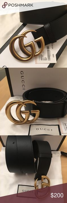 0ef96f49c 💕authentic Gucci belt Original women's Gucci belt with double GG GOLD  buckle Comes with dust