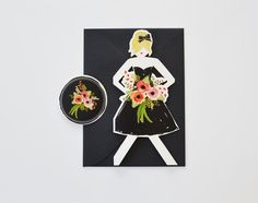 Paper Doll cards to ask your Bridesmaids to be part of your wedding! You can choose the hair color for each of your girls! See more here: https://www.etsy.com/listing/151264864/wedding-paper-doll-cards-set-of-3?ref=shop_home_active_15