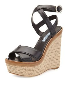 prada leather ankle strap sandal