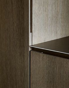 Note the subtle detail for the lower cab finger pull, and side routed pull for the doorfront Architecture Details, Interior Architecture, Interior Design, Joinery Details, Finger Pull, Wood Detail, Kitchen Interior, Door Handles, Furniture Design