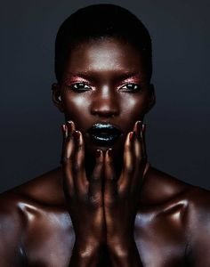 Achok Majak, Samantha Wolov, Velour magazine, Black Fashion Models, Beauty, make-up