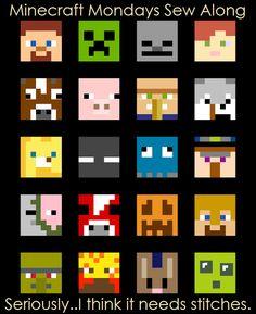 Free Minecraft Quilt Pattern                                                                                                                                                                                 More