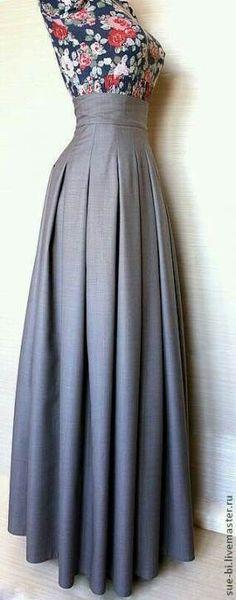 Ideas Skirt Pattern Maxi Beautiful Source by Modest Fashion, Fashion Dresses, Long Skirt Fashion, Modest Clothing, Emo Fashion, Dress Skirt, Dress Up, Box Pleated Dress, Box Pleat Skirt