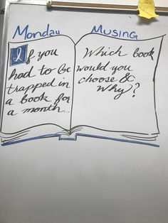 Chang it to Monday music Journal Topics, Journal Prompts, Classroom Fun, Future Classroom, Leadership, Morning Board, Daily Writing Prompts, Bell Work, Responsive Classroom
