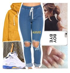 """""""goodnight"""" by lamamig ❤ liked on Polyvore featuring H&M, Louis Vuitton and NIKE"""
