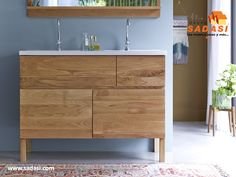 Tikamoon Easy Oak And Ceramic Vanity Cabinet 120
