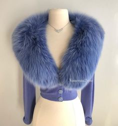 "Miss V on Instagram: ""( Sold ) Tres Chic! Gorgeous color, luxurious Vintage 1950's cashmere cardigan with huge fur collar. The ultimate in vintage luxury…"""