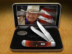 CASE XX John Wayne Commemorative Barnboard Dark Red Trapper Pocket Knife Knives