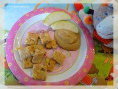 Apfelpfannkuchen mit Vollkornmehl aus dem Backofen