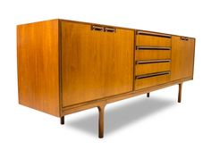 MID CENTURY Minimalist Teak Credenza Media Console or Drinks cabinet  by Mcintosh of Scotland . Offered By  Mod Century Vintage  Maker: