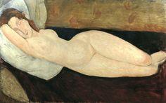 Reclining nude 1919 - Amédéo Modigliani ______________________________ ♥♥♥ deniseweb.free.fr ♥♥♥