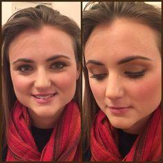 Emily's makeup practice for her natural makeup look. @lorealparisusa #glamour #glominereal #shimmershadow #bridalmakeup #weddingmakeup #lipstick #naturallook #weddingpractice #makeup #freshface #cosmetics #josiemaran #blush
