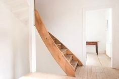 IN THE BUFF: Wood Staircases Going Au Naturel