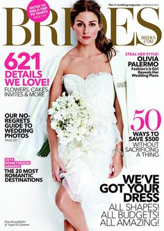 Olivia Palermo, Brides  Todas las fotos aquí: http://www.trendencias.com/novias/olivia-palermo-se-viste-de-novia-para-brides-magazine-sera-un-previo-de-su-vestido