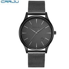 838f549b208 Full Stainless Steel Mesh Strap Business Watches Rede De Aço Inoxidável