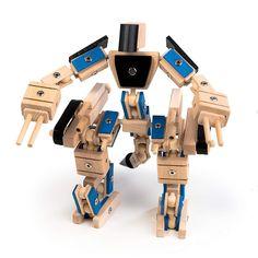 rewoodo Helden Aus Holz - Held Ninja - Holzspielzeug Baukasten Actionfiguren Holz Metall Junge Mädchen Kinder Spielzeug ab 3 Jahren: Amazon.de: Spielzeug