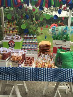 #power rangers candy bar #mesa de dulces niño #birthday