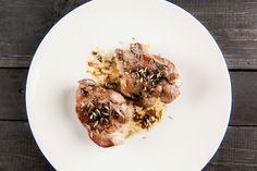 żeberka / koper włoski / pepperoncino / sos winny / Kuchnia Dantego