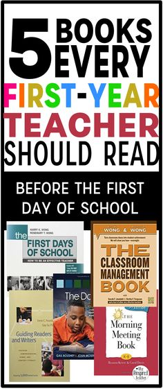 [original_tittle] – Mattie Daniel [pin_tittle] 5 books every first-year teacher should read before the last day of school by The Pinspired Teacher Lehrer Quellen 5 Books Every First-Year Teacher Should Read Before the Day of School 1st Year Teachers, First Year Teaching, Teaching Jobs, Student Teaching, Teaching Ideas, Teaching Interview, Teaching Schools, Primary Teaching, Teaching Strategies