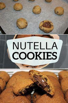 Jeg elsker de her sprøde cookies med  masser af flydende Nutella indeni.