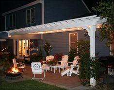 Image detail for -custom pergola transforms this patio into an elegant outdoor room!