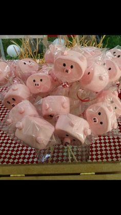 Bombones, cerditos candi bar, granja, postres mesa de dulces Animales Farm Animal Birthday, Cowboy Birthday, Farm Birthday, Toy Story Birthday, 6th Birthday Parties, Pig Baby Shower, Baby Shower Princess, Festa Toy Story, Toy Story Party