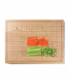 The OCD Cutting Board - Great wedding registry item for the perfectionist who needs everything just right!
