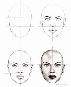 How to Draw a Face - 25 Step by Step Drawings and Video Tutorials