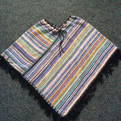 Zelf ontworpen poncho, gemaakt van 2 handdoeken