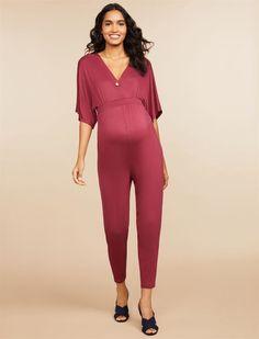 45c7994a60a26 Jessica Simpson Wrap Maternity Jumpsuit | Motherhood Maternity Maternity  Jumpsuit, Maternity Dresses, Jessica Simpson