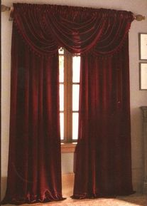 Deep Burgundy Curtains Embody The Red Shades Seen In Colour Scheme Chart Is An Advancing Warm That Creates A Sen