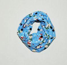 Baby/Toddler infinity scarf snowman infinity scarf by RYLOwear