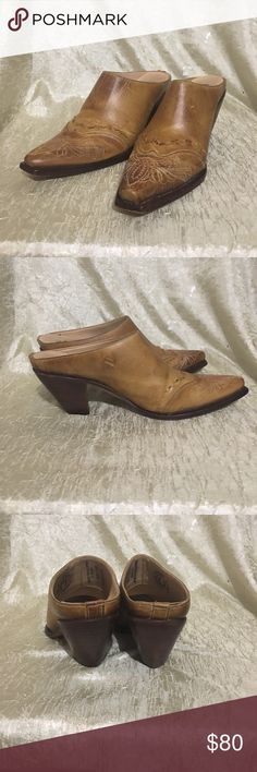 """Charlie horse booties Gorgeous Palomino gold Charlie horse booties. Size 71/2 3"""" stacked heel wonderful hand stitching detailing on toe. Minor scuffing on soles. Charlie Horse  Shoes Ankle Boots & Booties"""