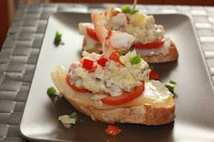 alicia Bruschetta, Baked Potato, Baking, Ethnic Recipes, Tropical, Food, Spanish Tapas, Salads, Octopus Salad
