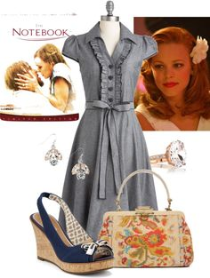 """""""Rachel McAdams in The Notebook"""" by my-pretend-closet ❤ liked on Polyvore"""