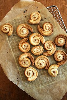 cinnamon snails, made with leftover dough